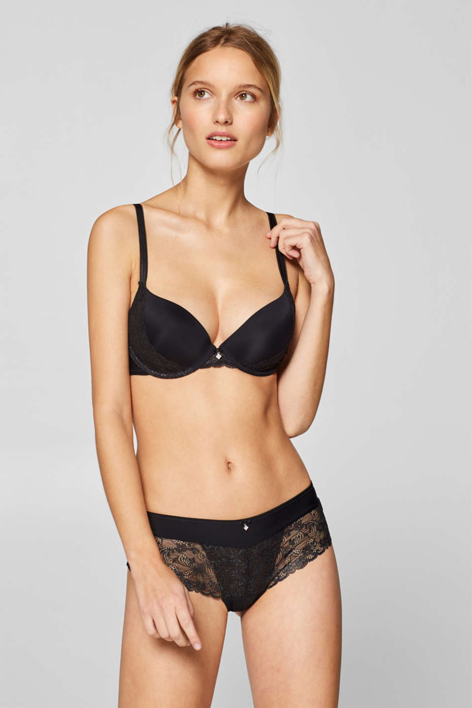 Esprit - Mesh + lace push-up bra