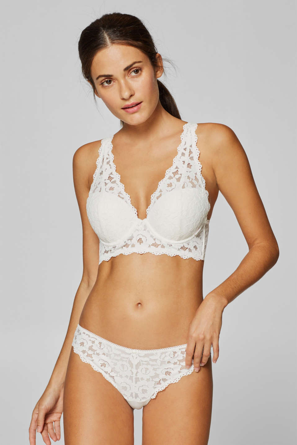 Esprit - Push-up bra with wide lace straps