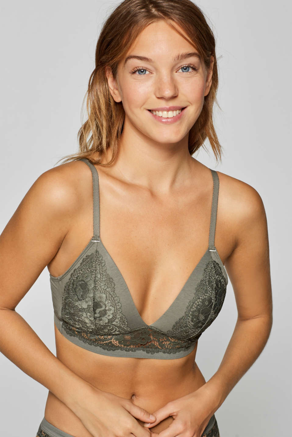 Esprit - Padded non-wired lace bra