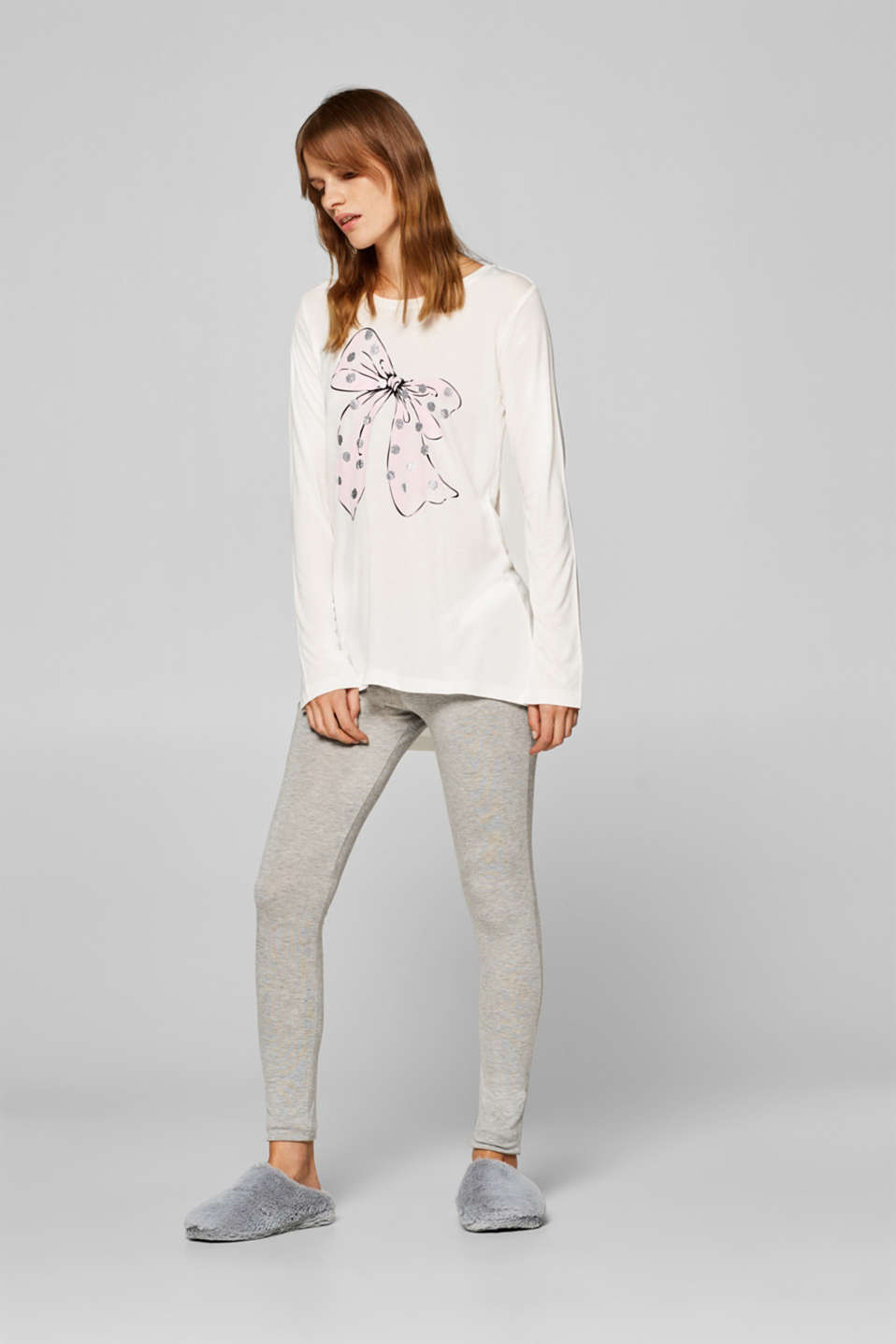 Esprit - Jersey pyjamas with a bow print