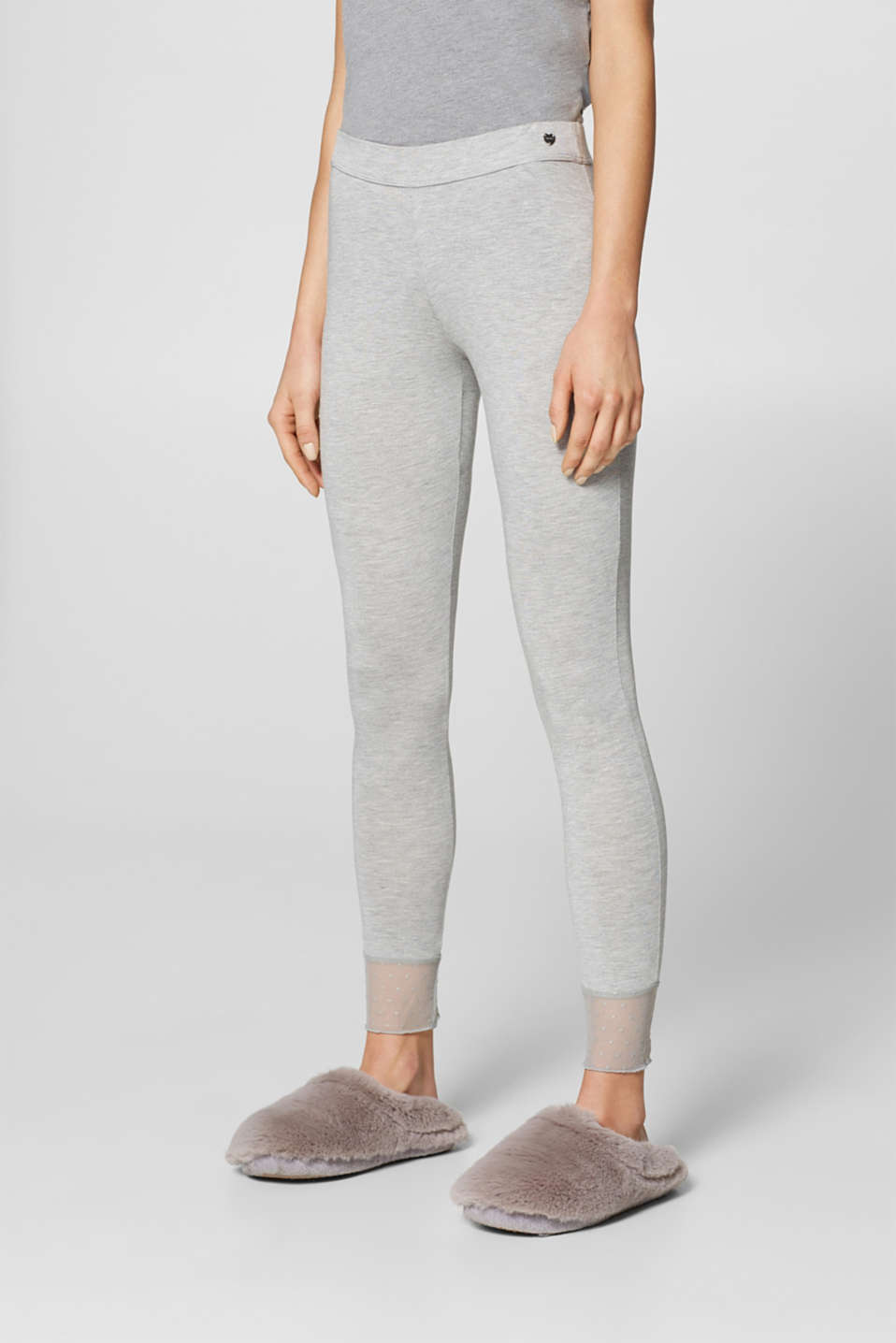 Esprit - Pyjama bottoms with tulle details
