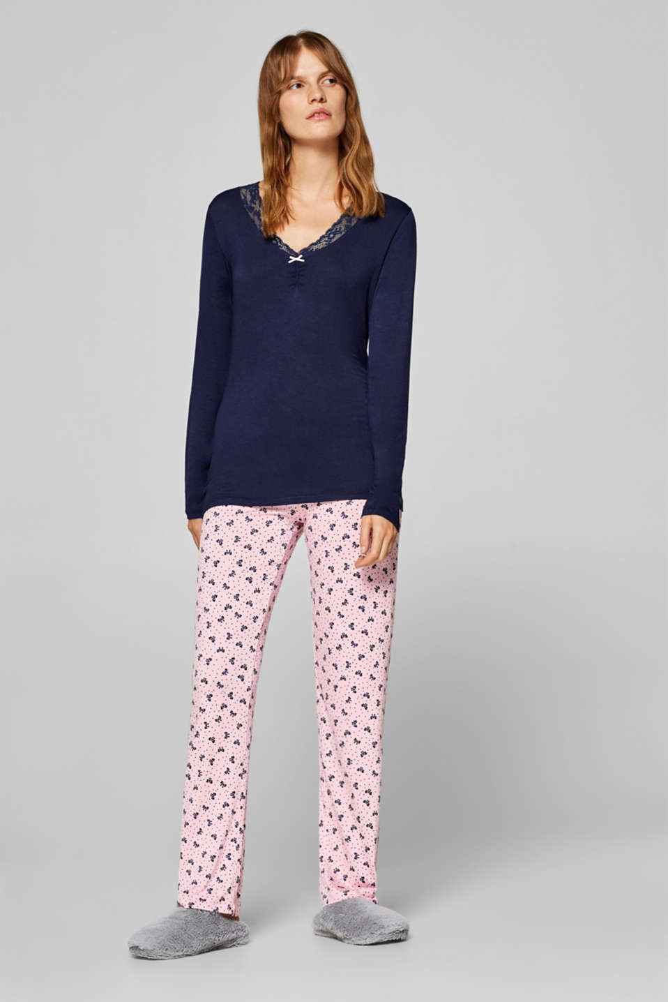 Esprit - Jersey pyjamas with stretch for comfort
