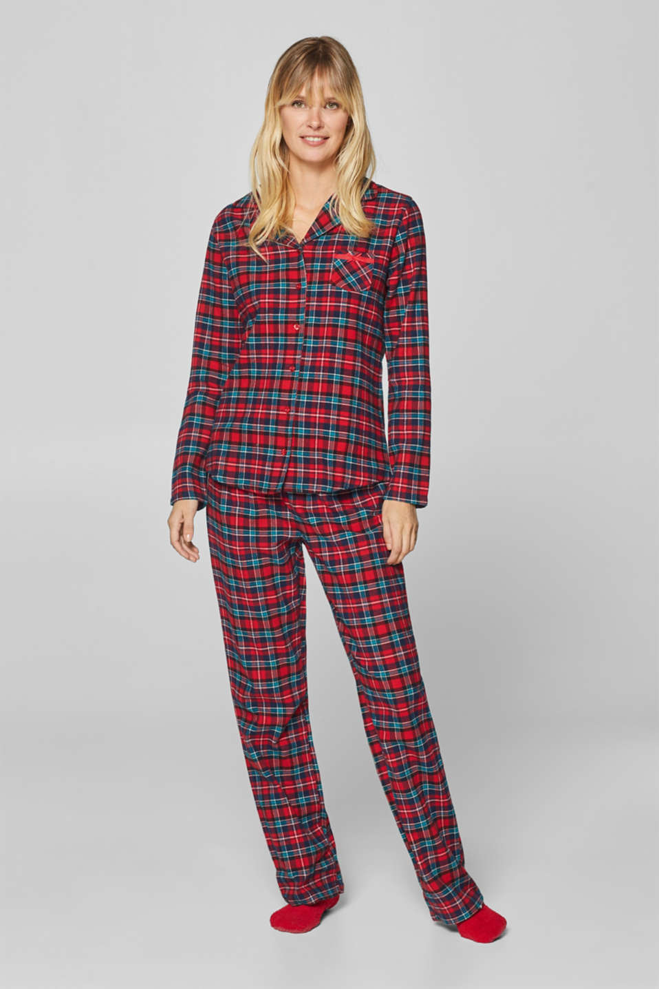Esprit - SET: flannel pyjamas and cosy socks