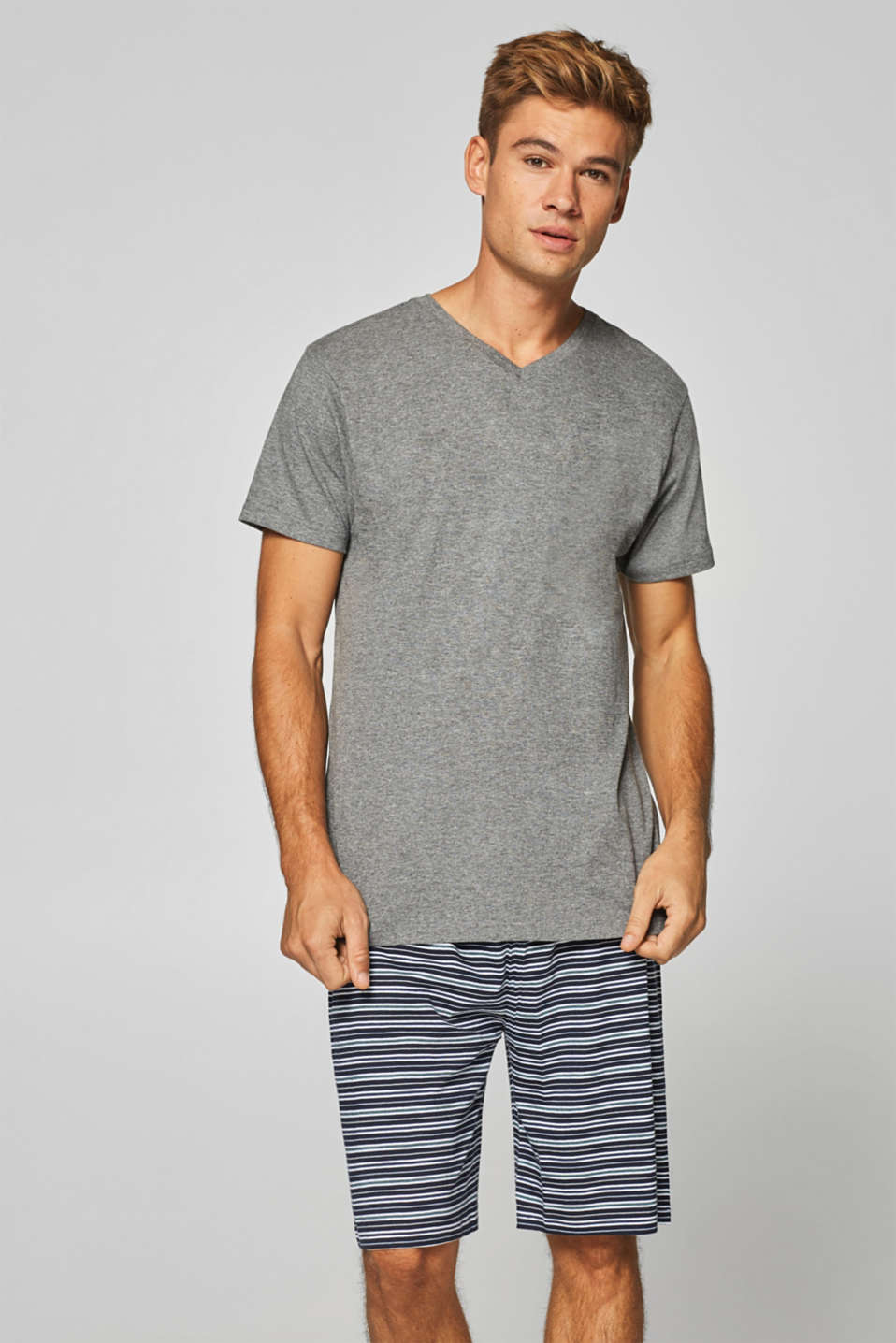 Esprit - Jersey pyjamas with shorts