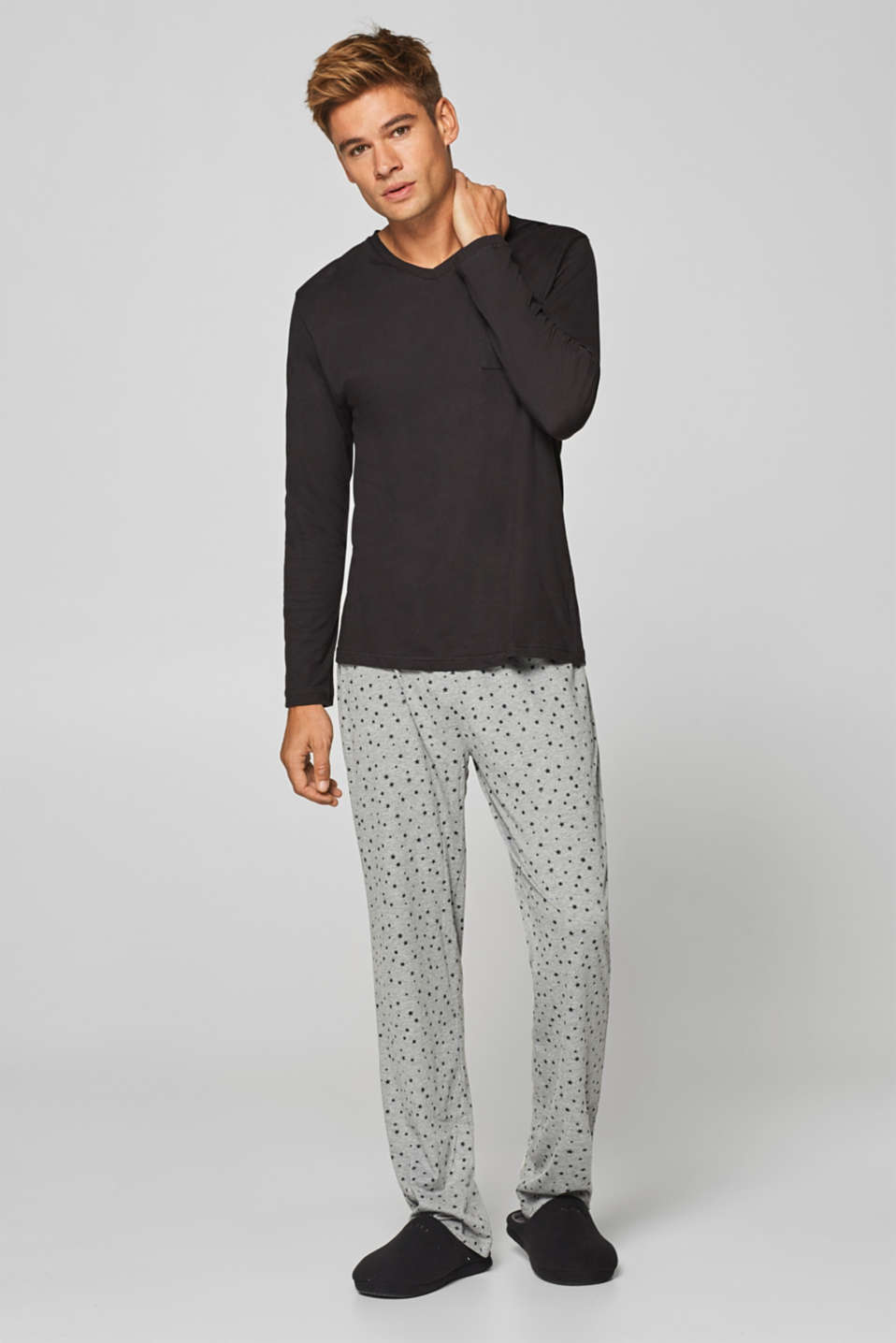 Esprit - Jersey pyjamas with stars