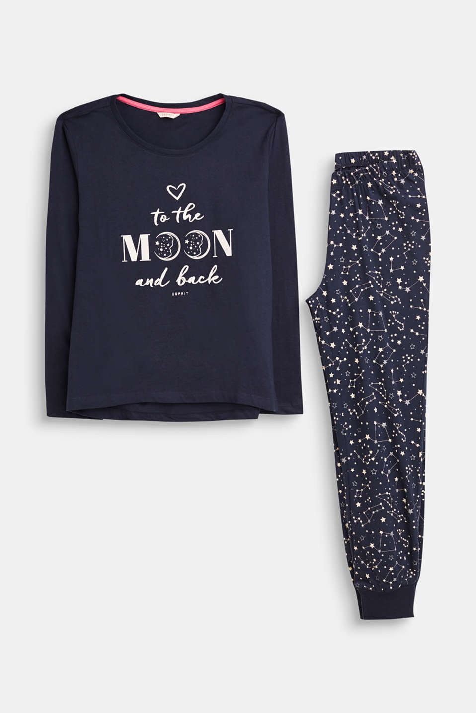 Esprit - Jersey pyjamas with moon-and-stars print