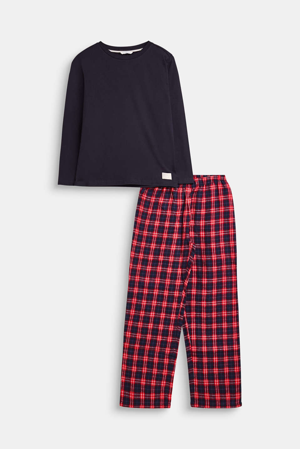 Esprit - Jersey and flannel pyjamas, 100% cotton