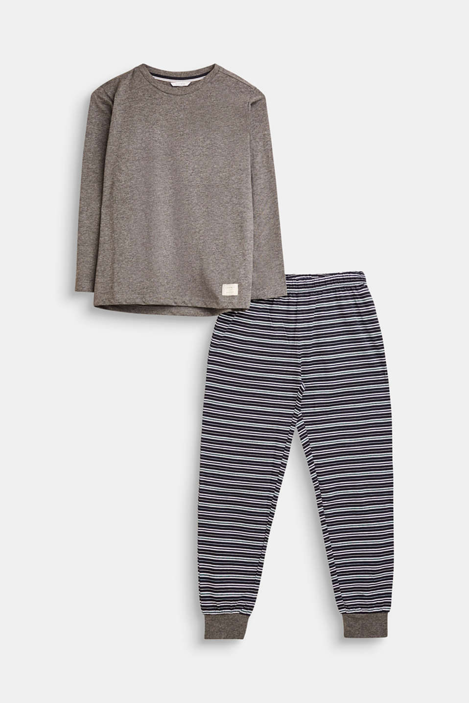 Esprit - Jersey pyjamas in soft blended cotton