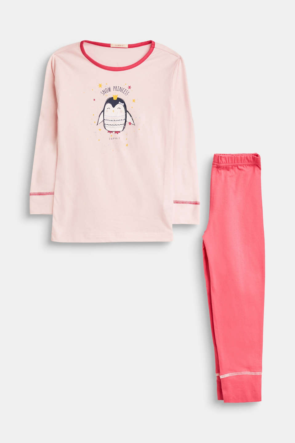 Esprit - Pyjamas with penguin print, 100% cotton
