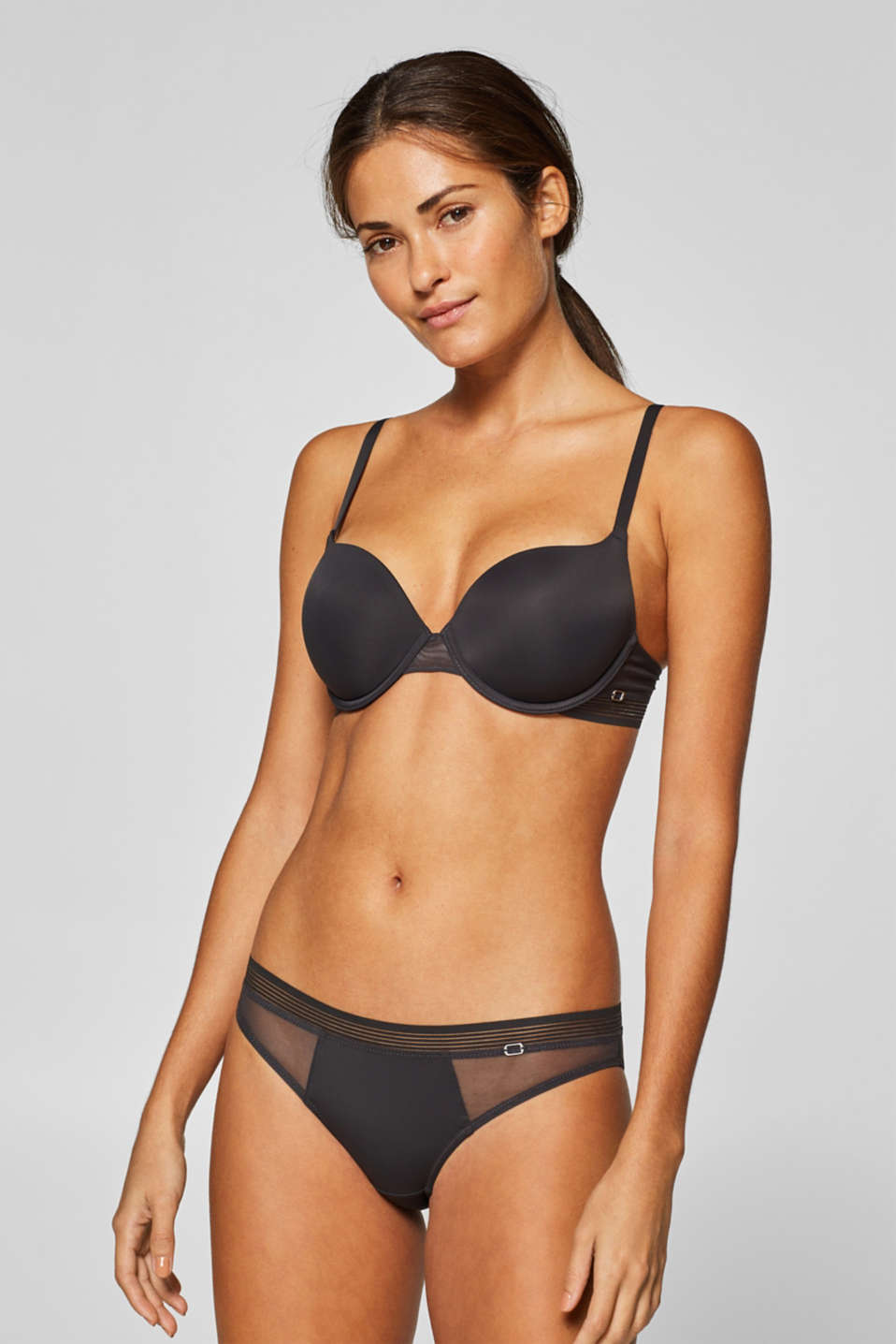 Esprit - NYE padded underwire bra made of microfibre and mesh
