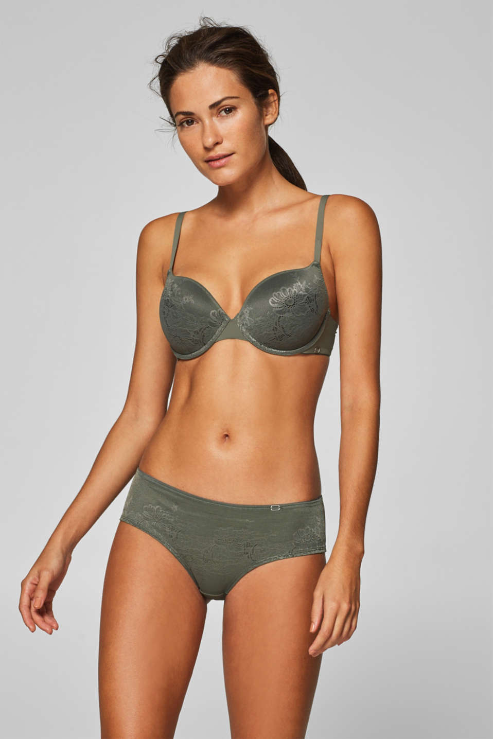 Esprit - NYE padded underwire bra in flat lace