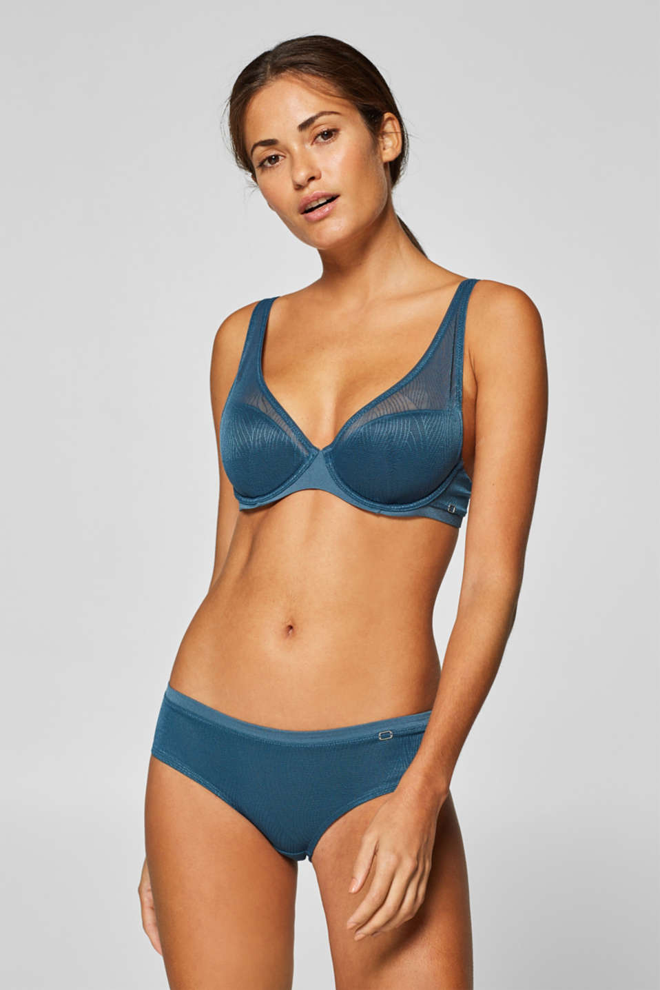 Esprit - NYE semi-padded underwire bra with leaf lace