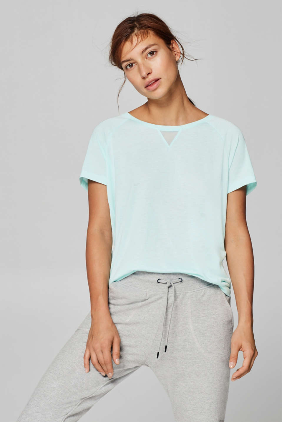 Esprit - Top with print and mesh details