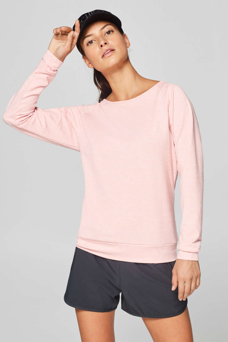 Esprit - Lightweight sweatshirt with a layered back