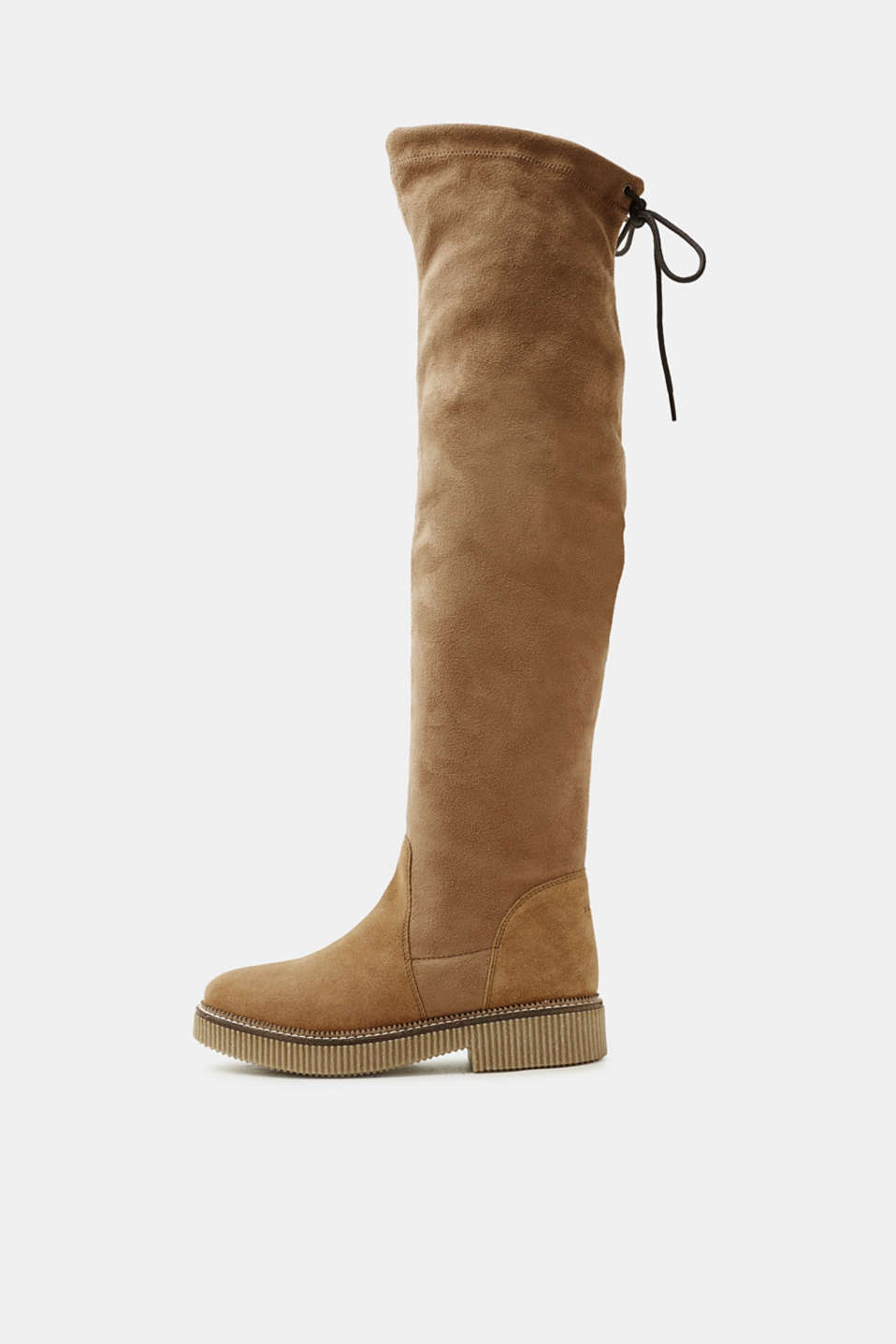 Esprit - Over-the-knee boots with a crepe sole