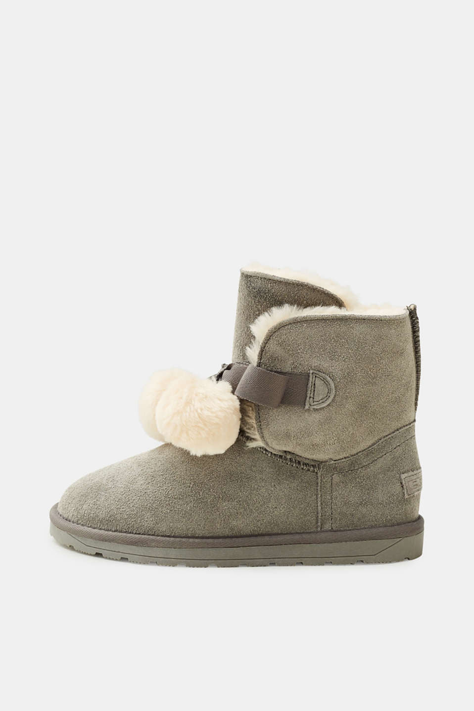Esprit - Winter boots with fake fur lining and pompoms