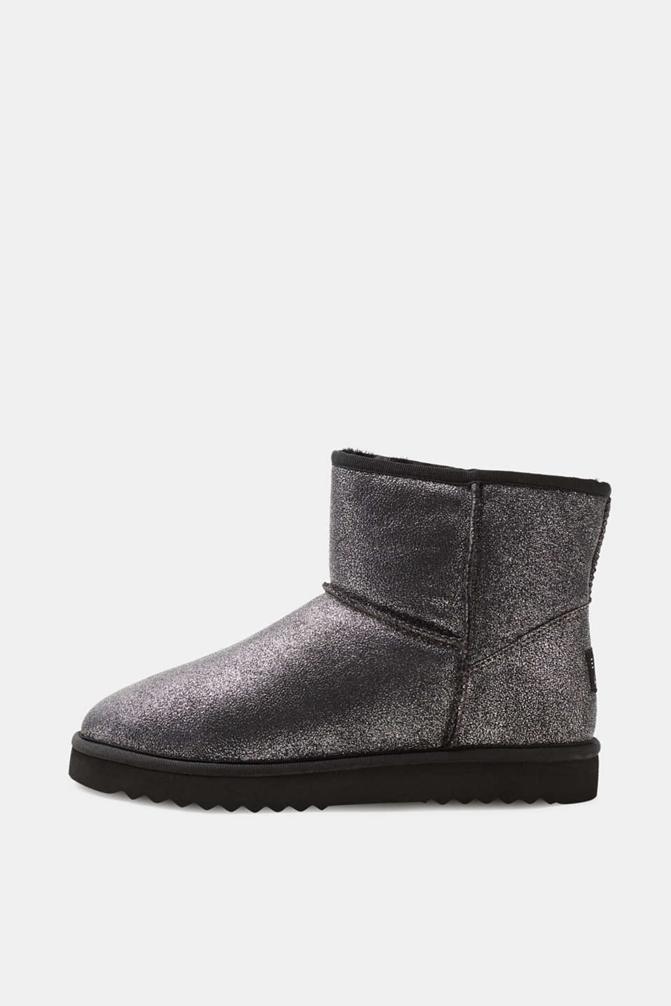 Esprit - Metallic-effect winter ankle boots