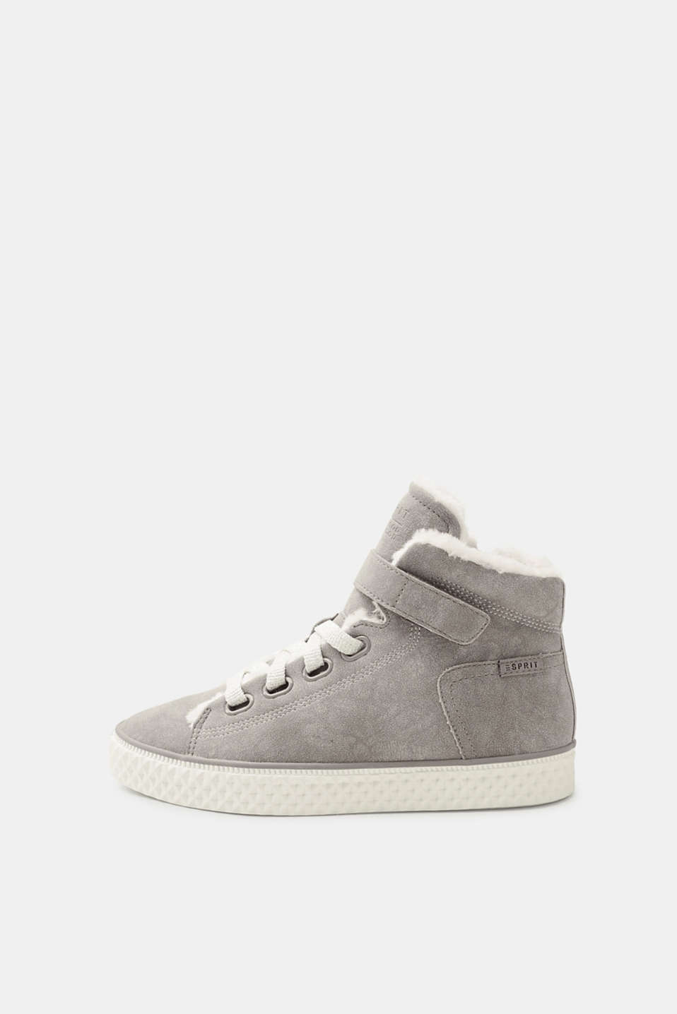 Esprit - High-top trainers with fake fur lining