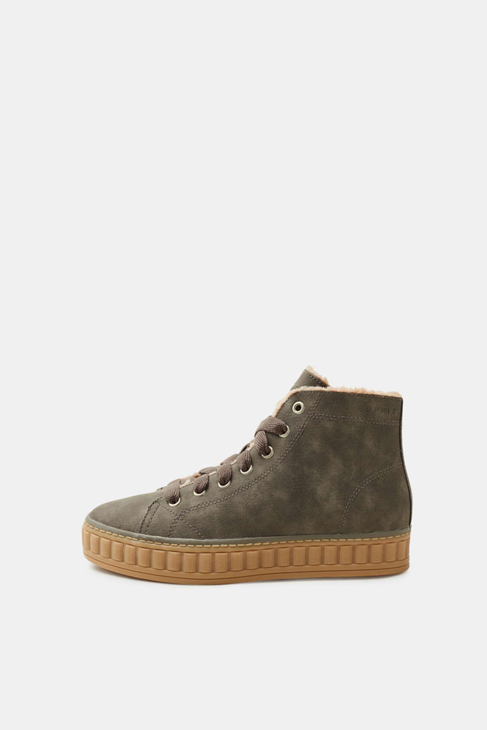 Esprit - High-top trainers with teddy lining