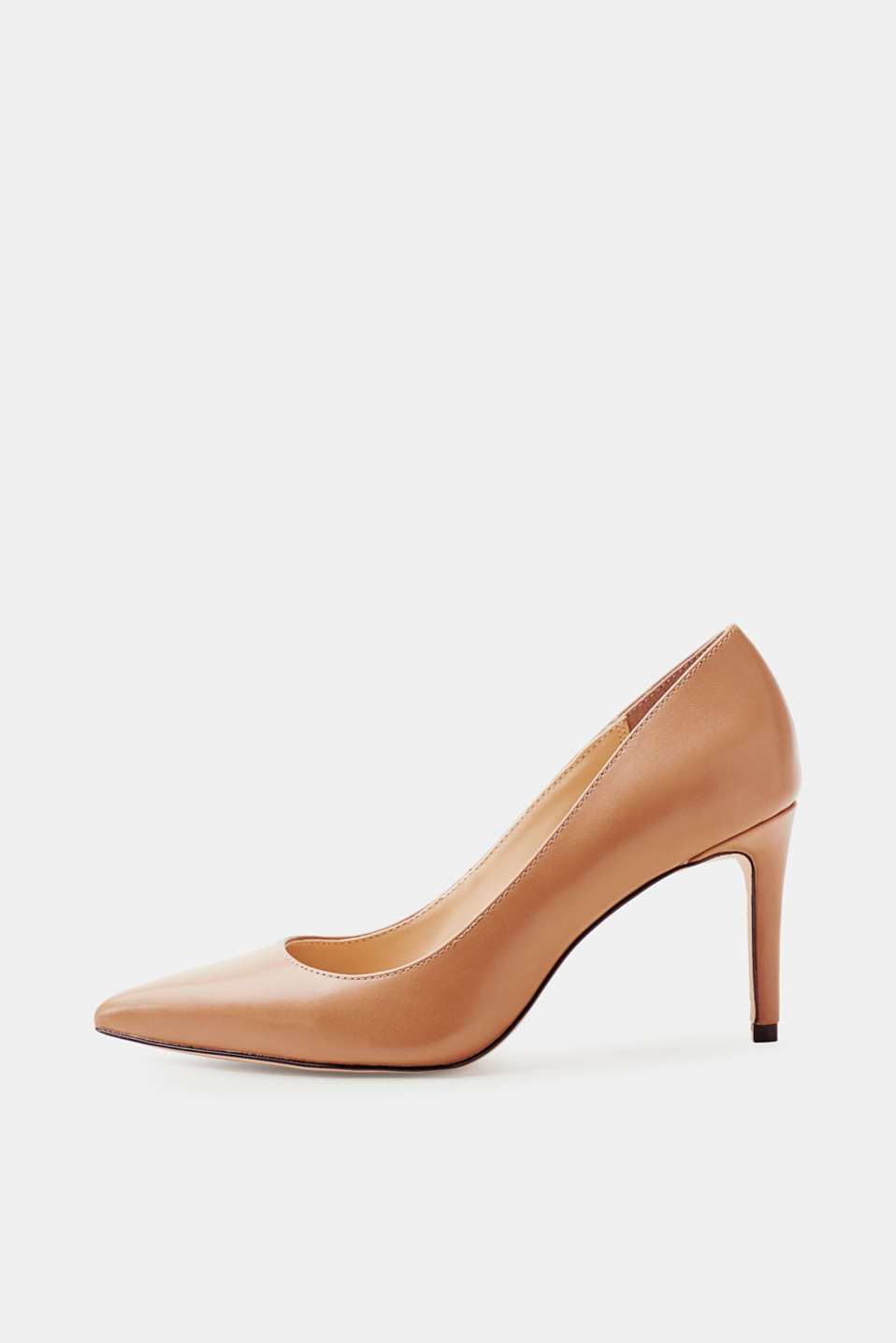 Esprit - Pointed faux leather court shoes