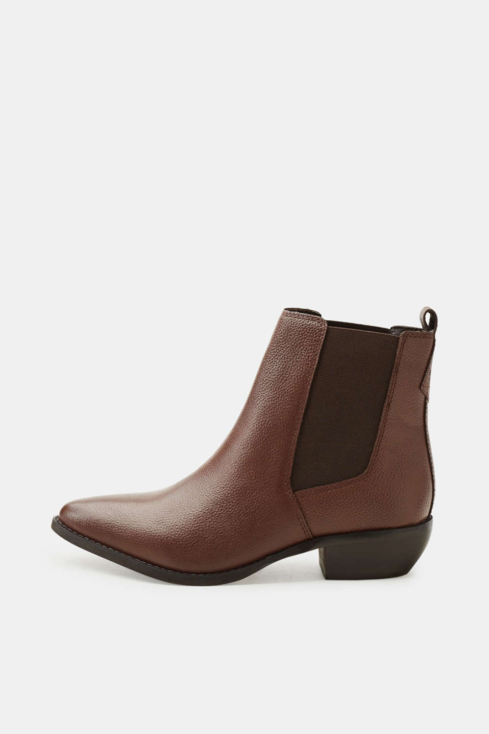 Esprit - Pointed ankle boots made of leather