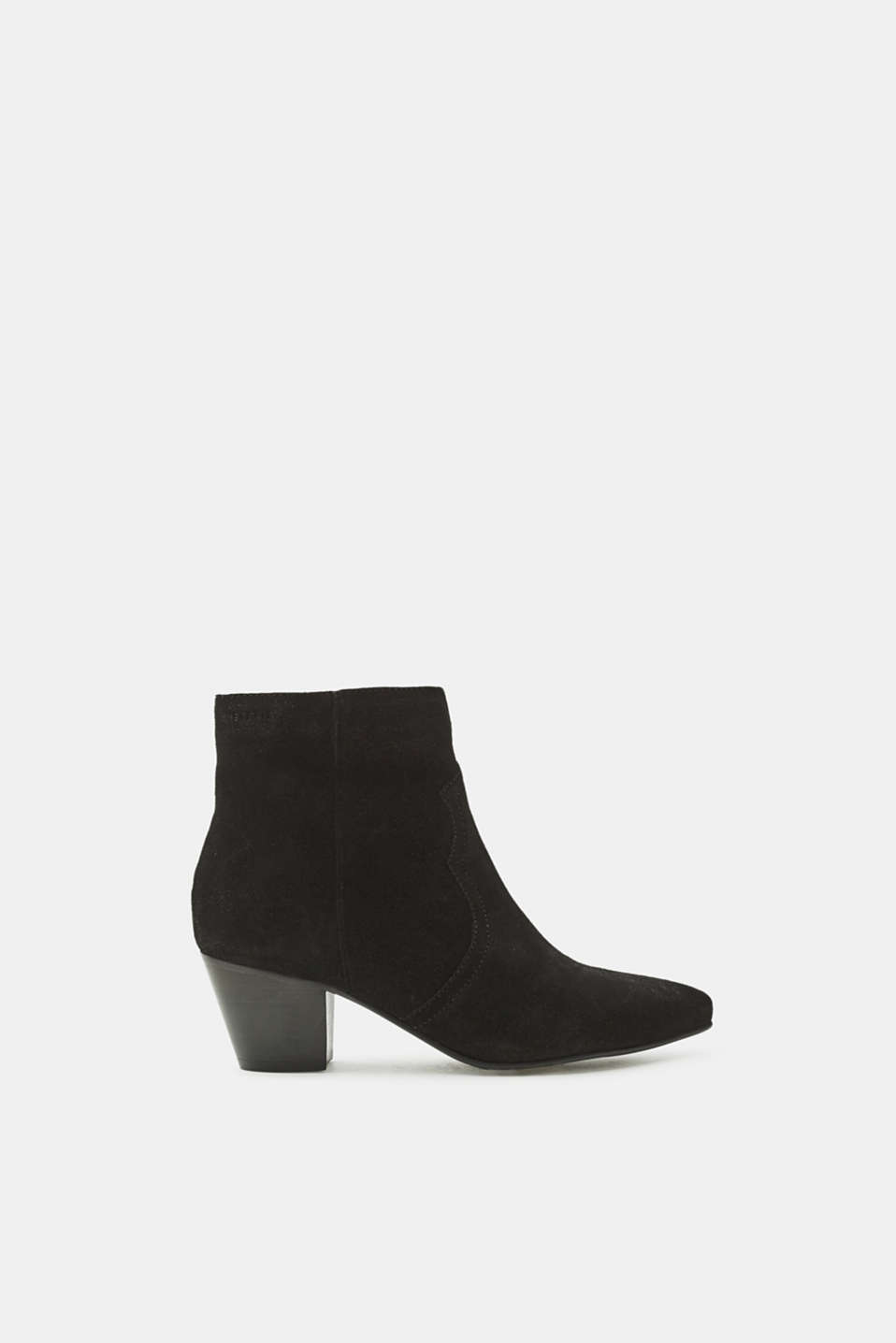 Esprit - Pointed ankle boots made of suede