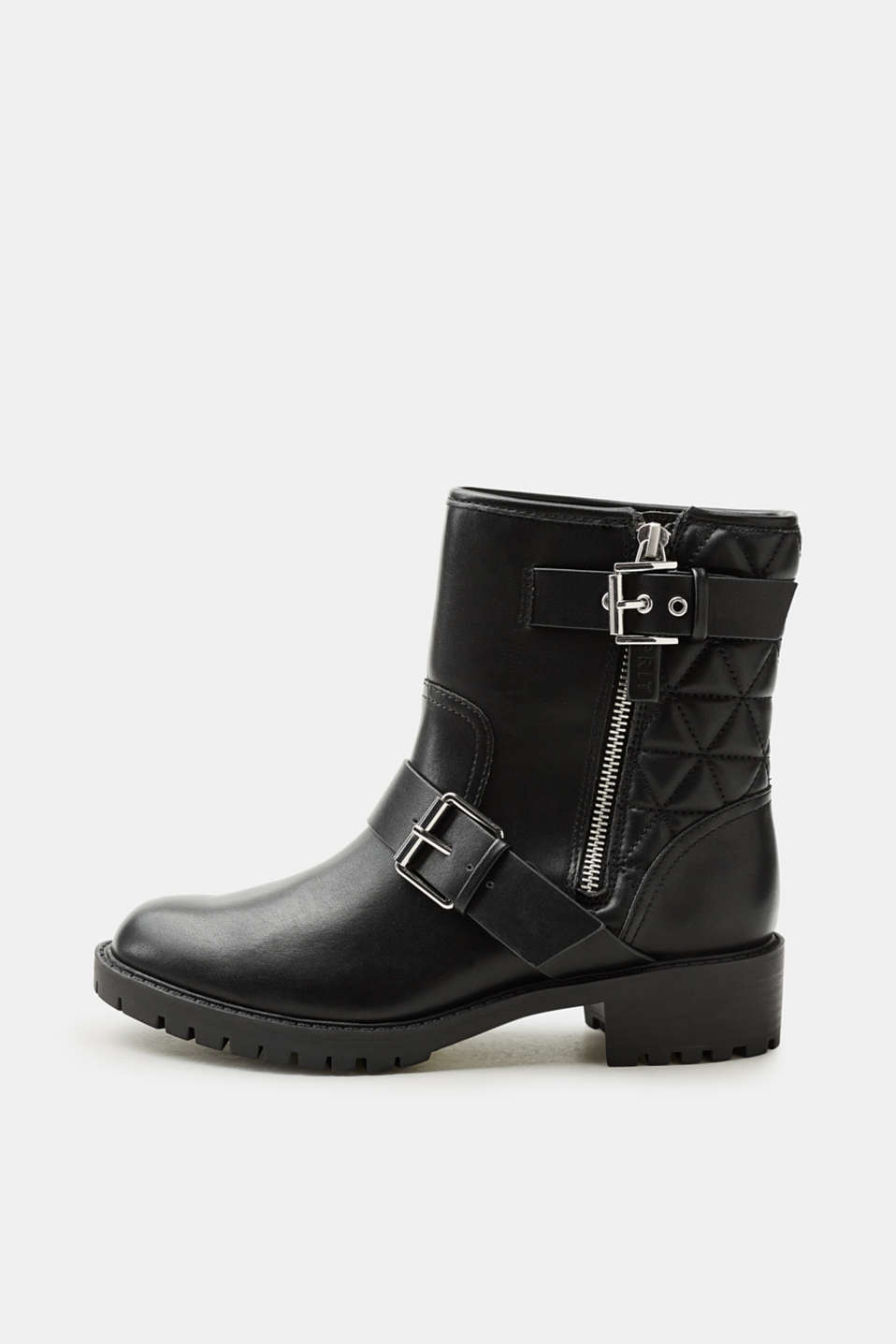 Esprit - Biker boots in smooth faux leather