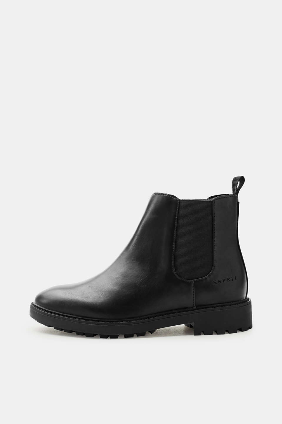 Esprit - Faux leather Chelsea Boots with a ridged sole