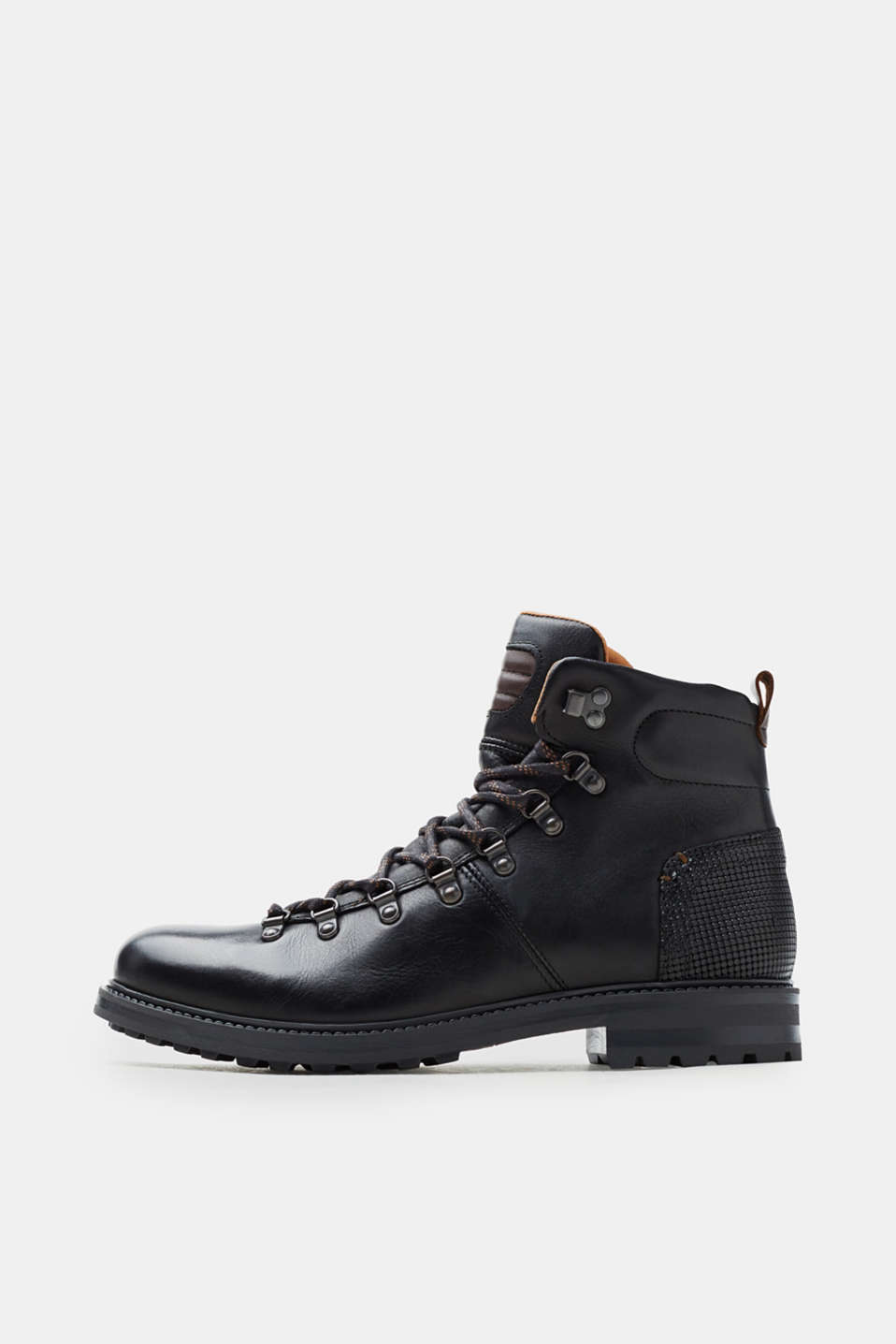 Esprit - Leather lace-up boots