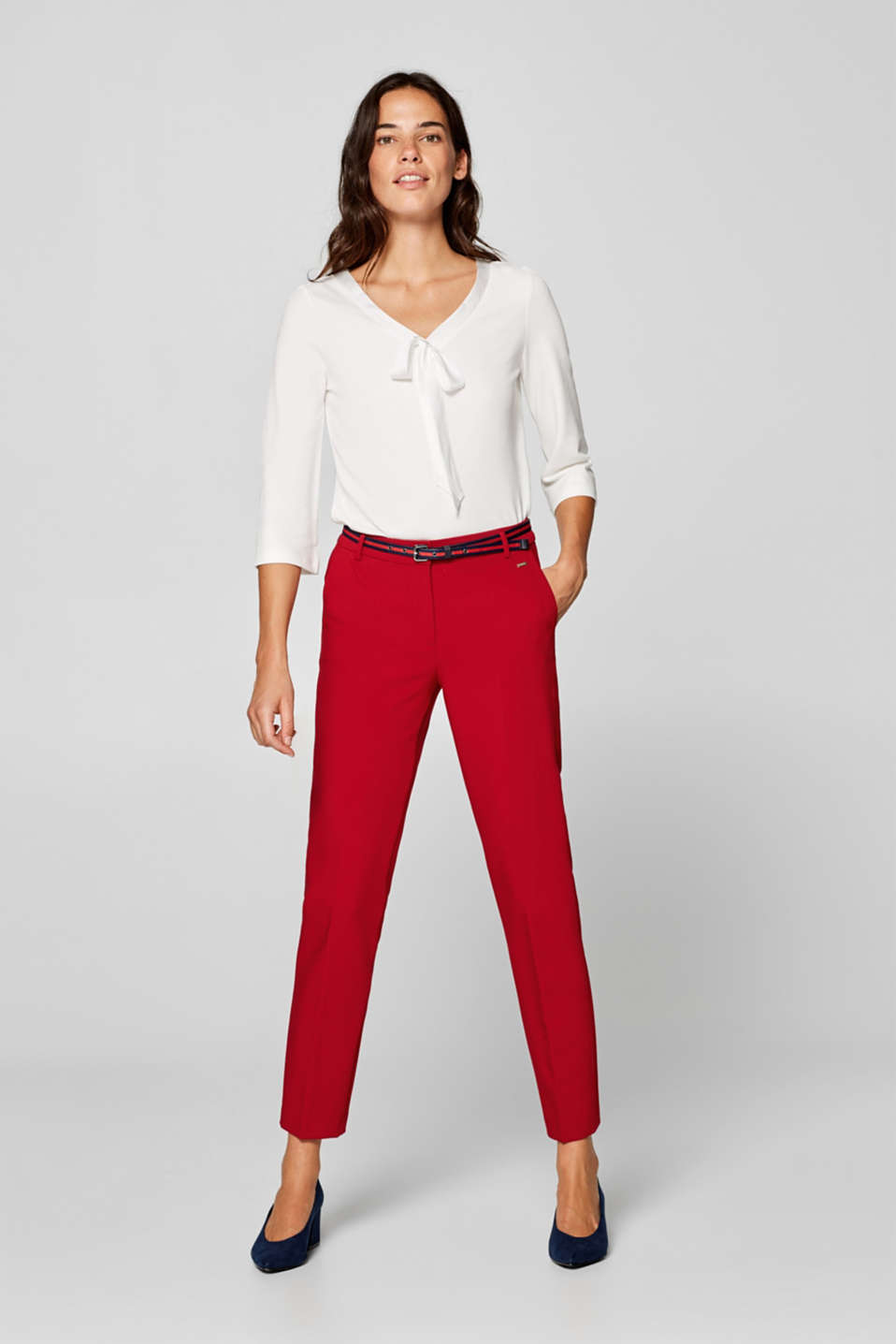 Esprit - NEW BUSINESS mix + match trousers with two-way stretch