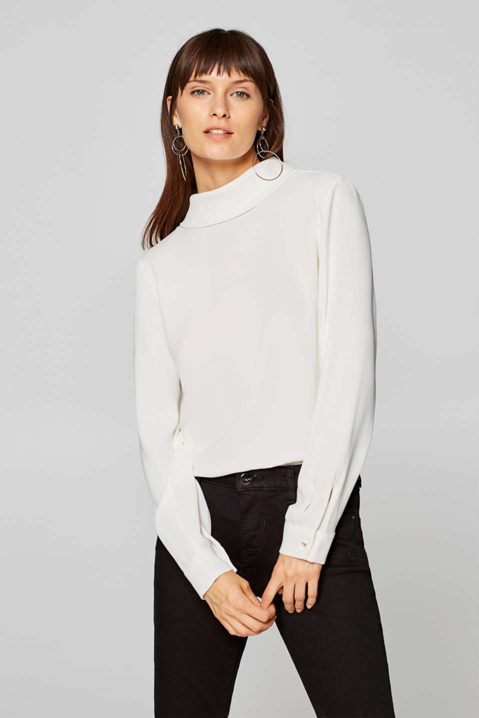 Esprit - Blouse with a bow at the back