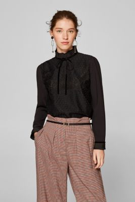 d85ddcf55accb ... exceptionally elegant blouse featuring a pleated stand-up collar and  velvet details. spv-main-image-thumb-alt