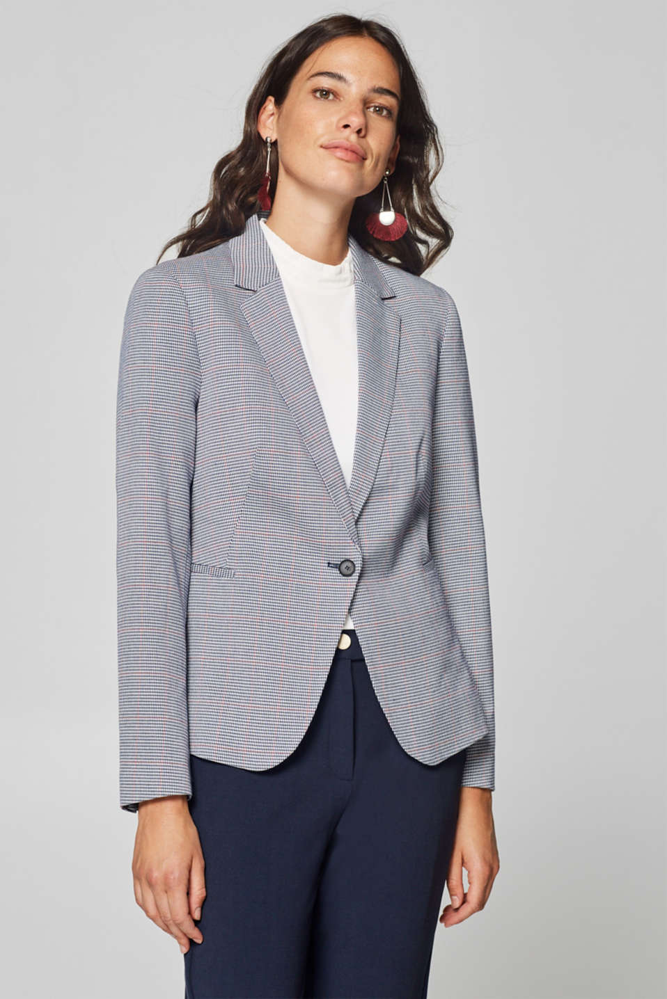 Esprit - MINI HOUNDSTOOTH mix + match stretch blazer