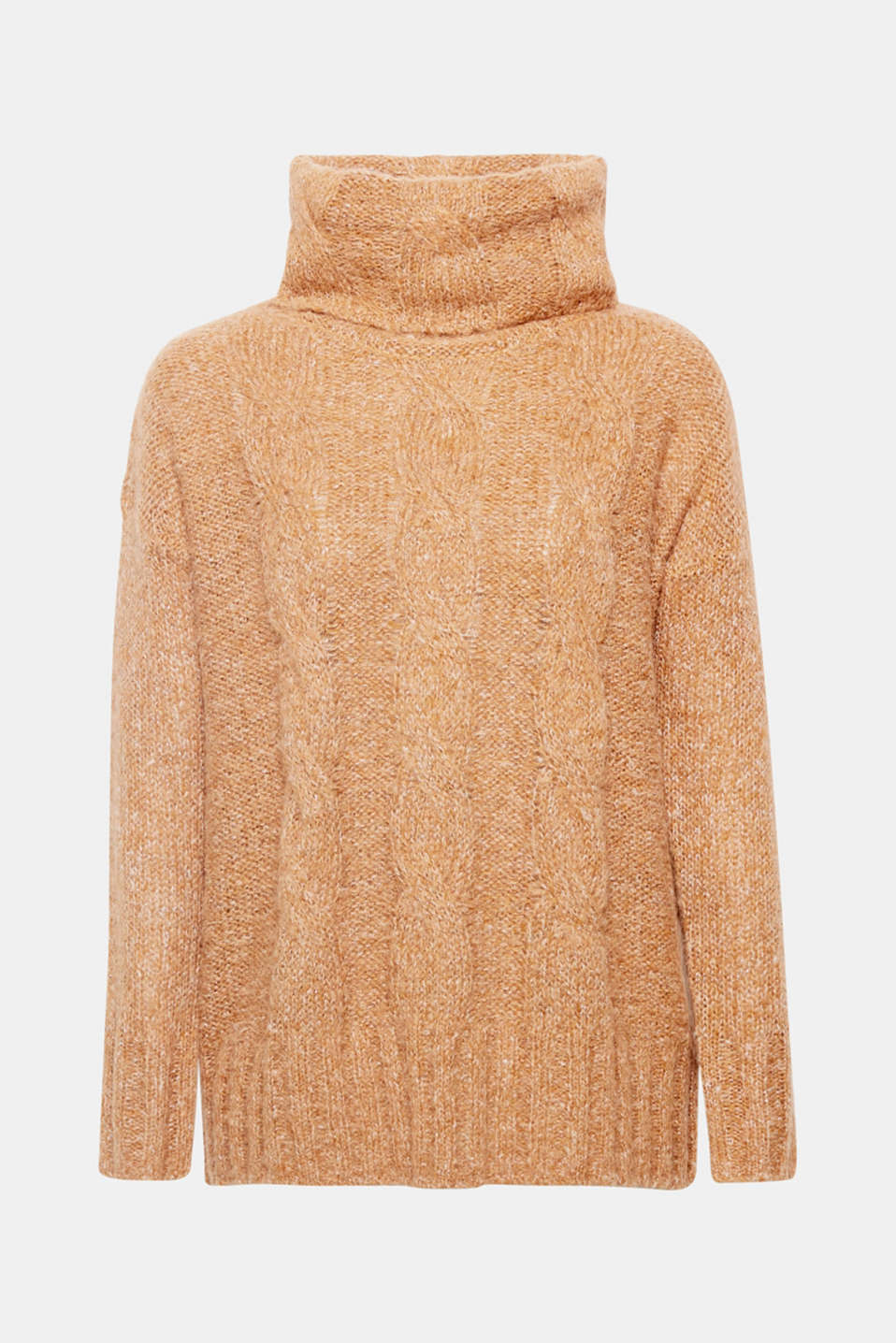 Cosy favourite autumn piece: The loose stitching, decorative cables and fine glitter effects make this oversized jumper a hot commodity!
