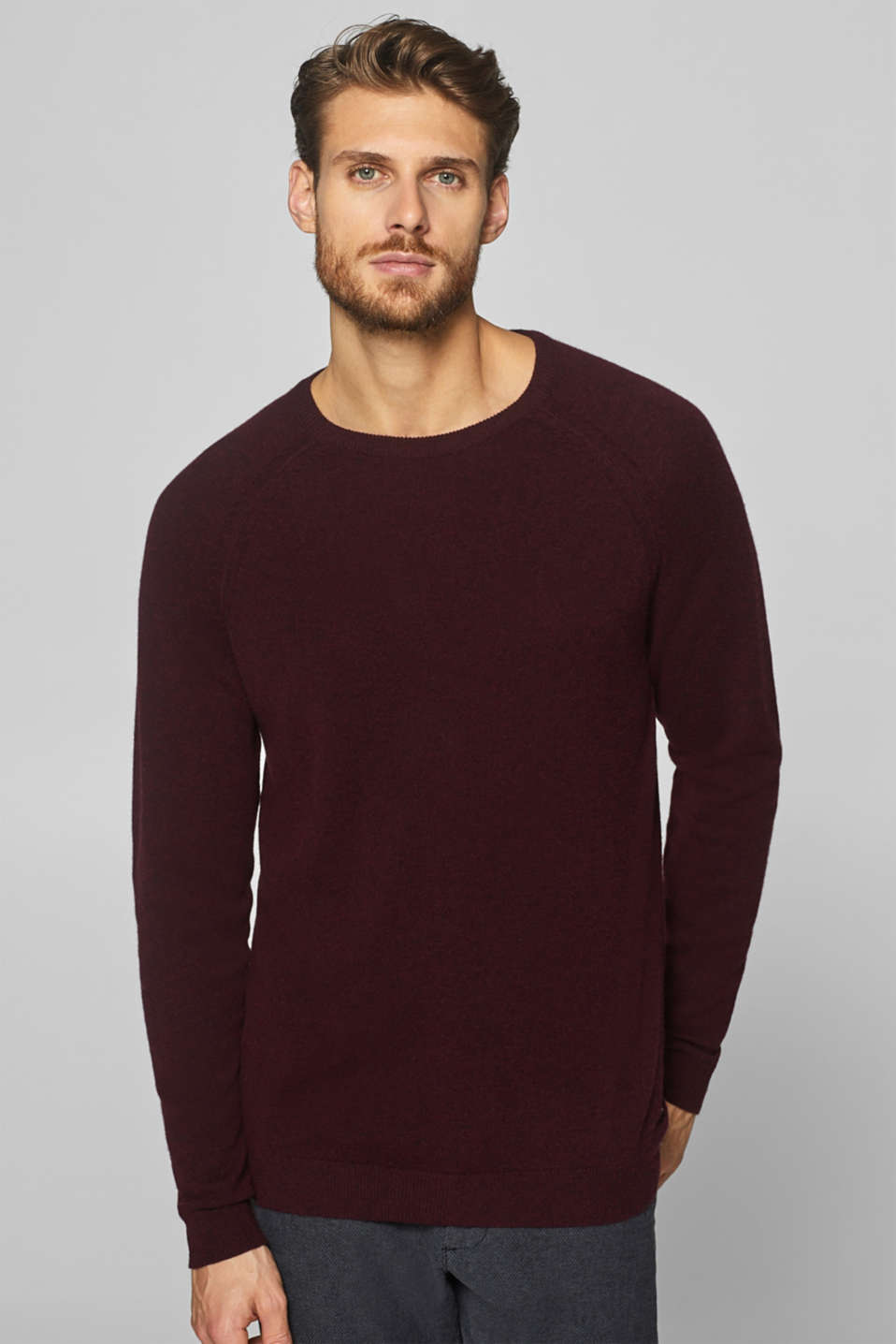 Esprit - A cashmere/wool blend: fine knit jumper