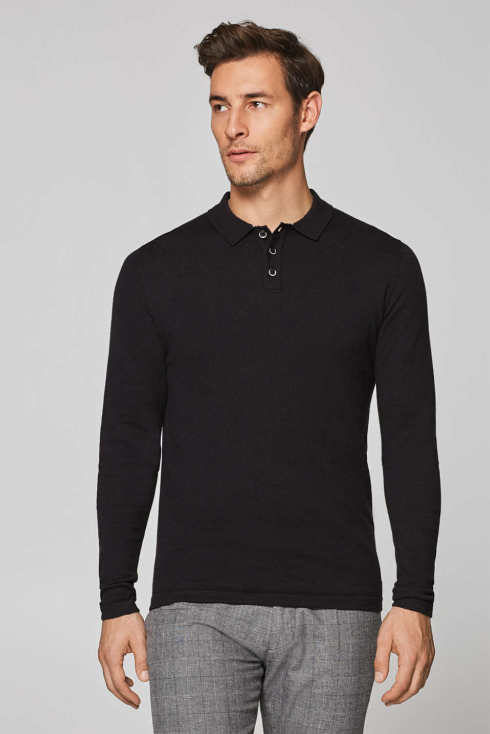 Esprit - Wool blend: polo-neck jumper