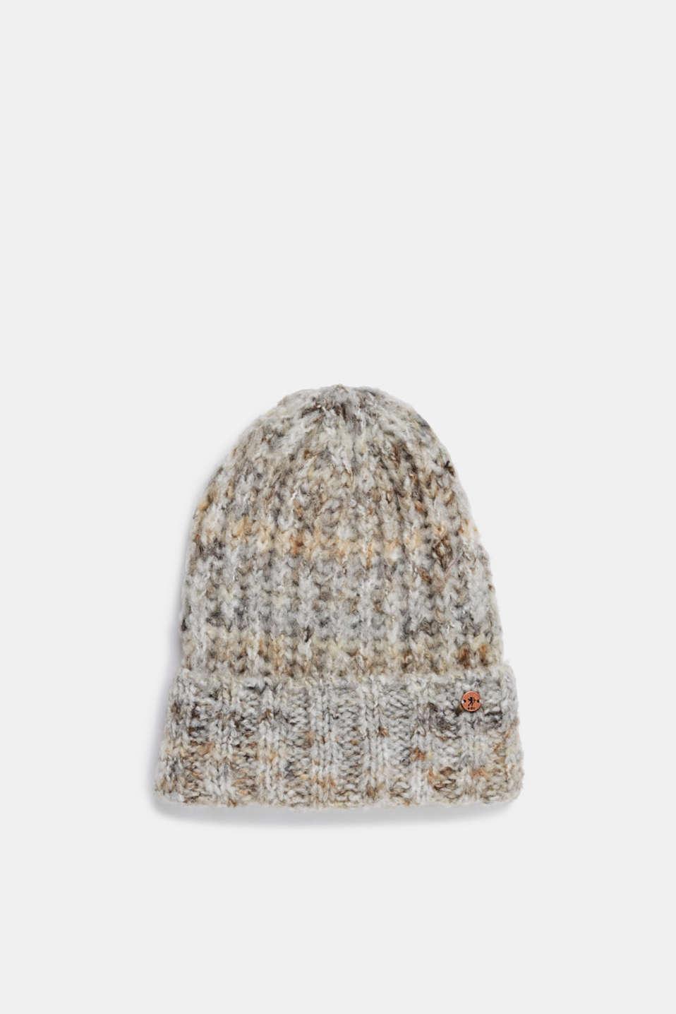 Wool blend: hat in Italian yarn, GREY, detail image number 0