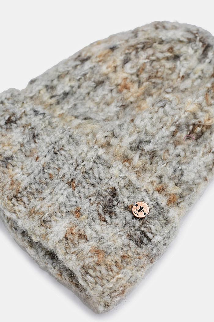 Sisältää villaa: pipo italialaista lankaa, GREY, detail image number 1