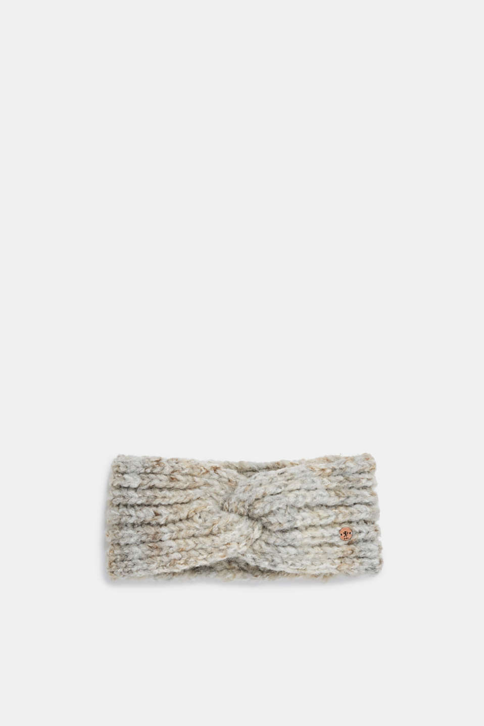 Blended wool: Headband with knot detail, GREY, detail image number 0