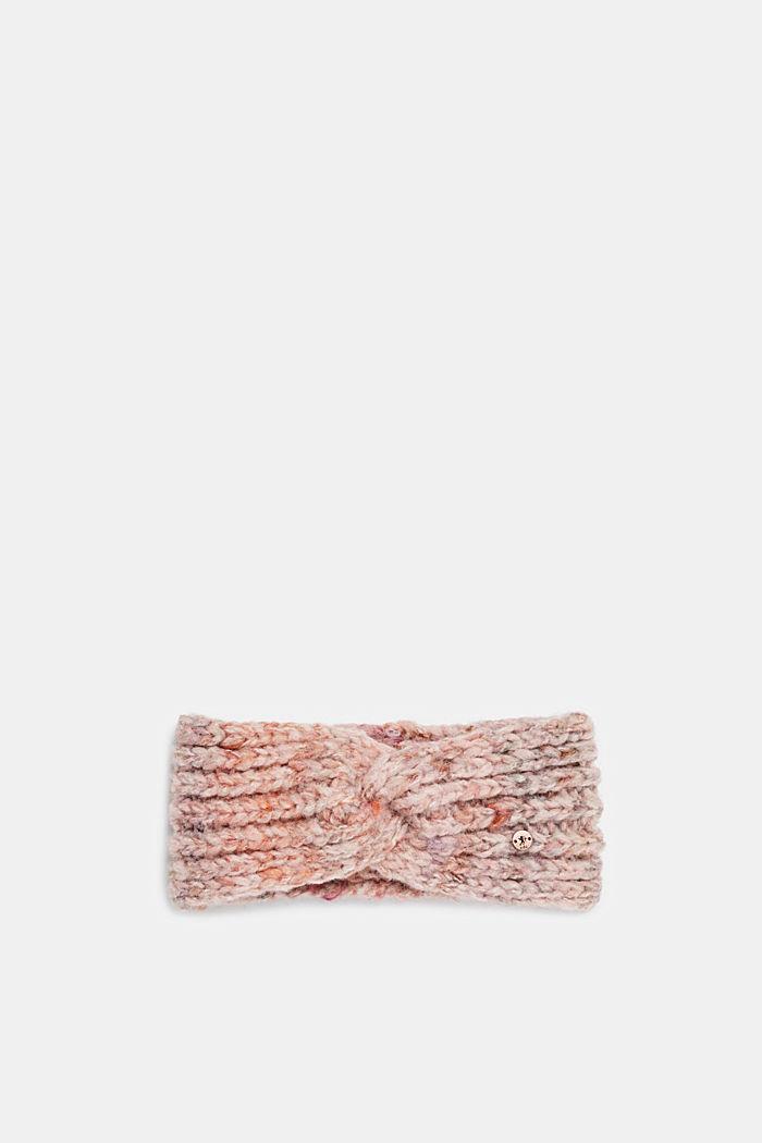 Mit Wolle: Stirnband mit Knoten-Detail, DARK OLD PINK, detail image number 0