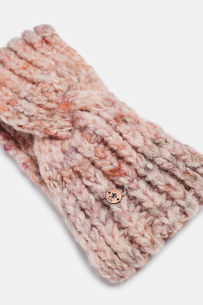 Blended wool: Headband with knot detail