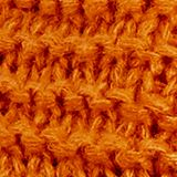 Snood scarf made of a chunky knit, AMBER YELLOW, swatch