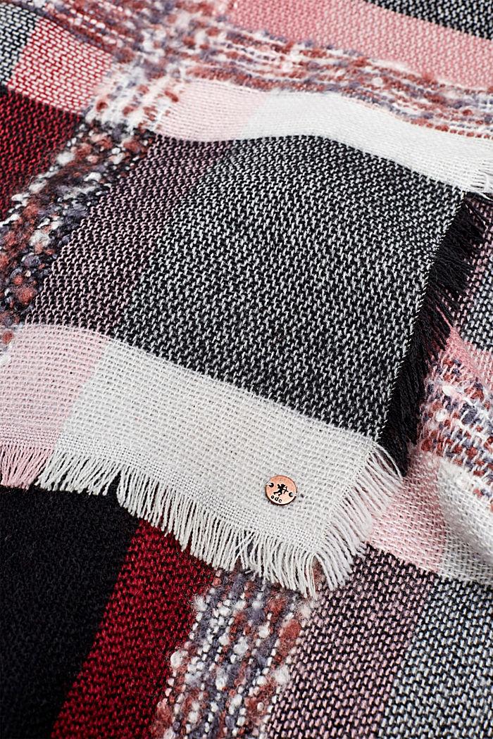 XL-Tuch mit Karo-Muster, BLACK, detail image number 1