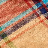 Scarf with a check pattern, 100% cotton, CAMEL, swatch