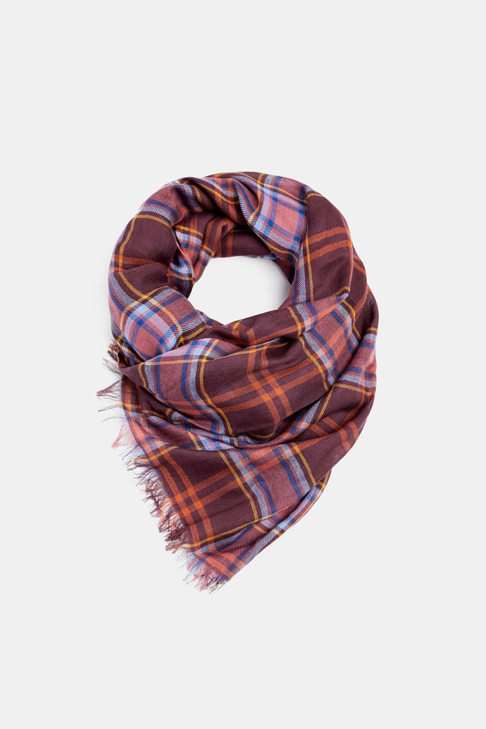 edc - Scarf with a check pattern, 100% cotton