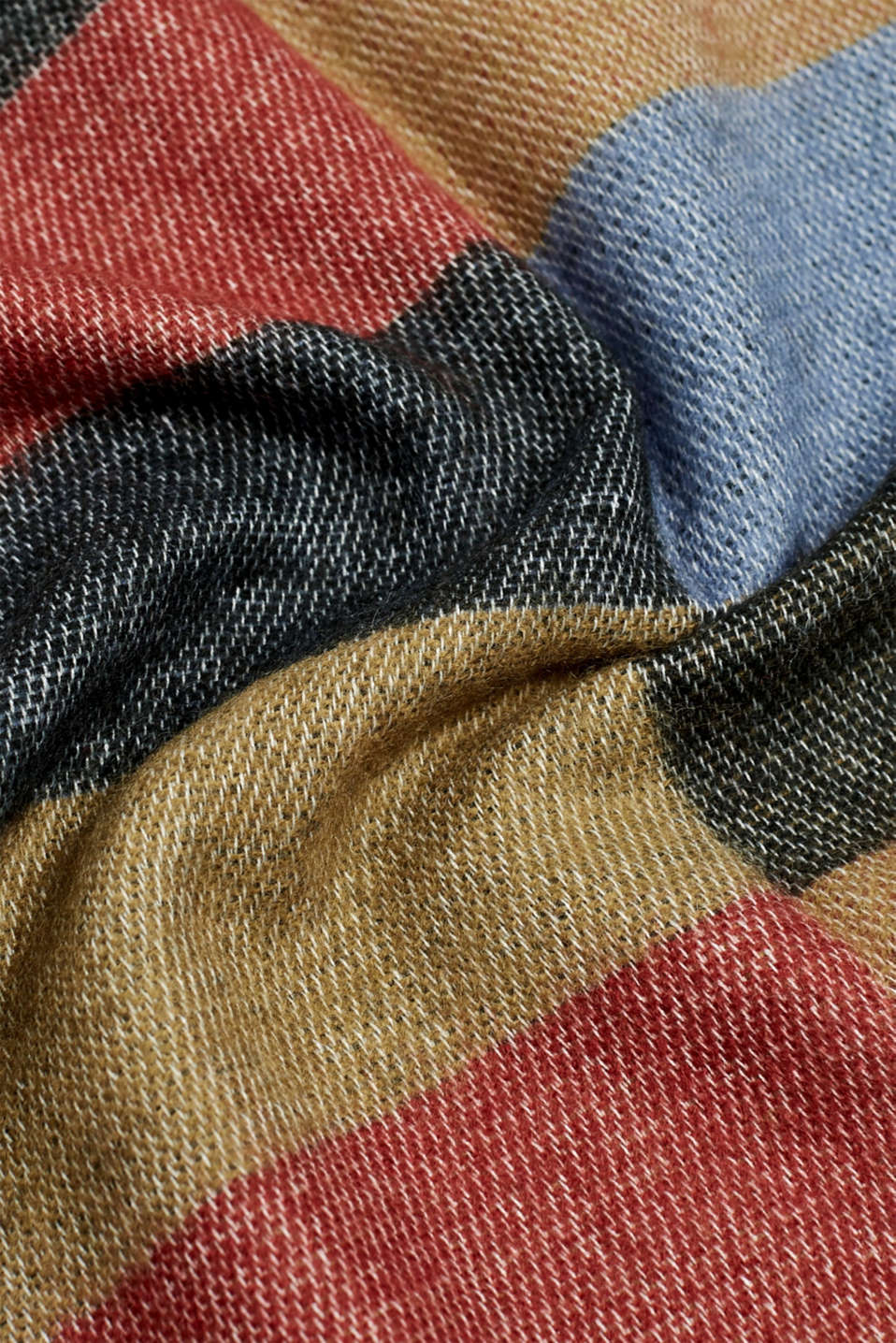 Oversized scarf with block stripes, MEDIUM GREY, detail image number 2