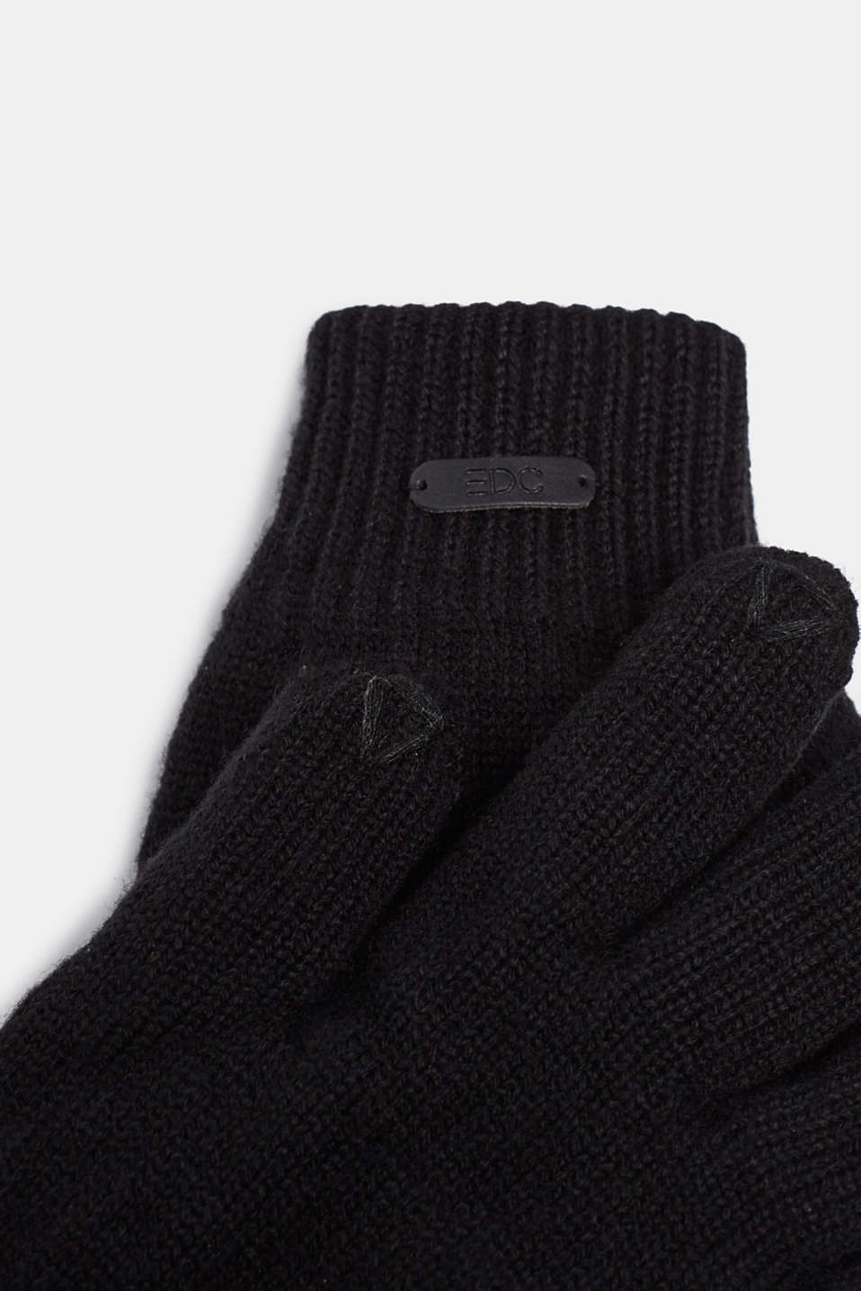 Gloves non-leather, BLACK, detail image number 1