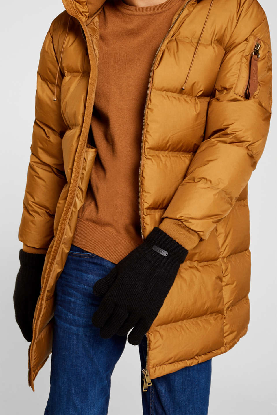 Gloves non-leather, BLACK, detail image number 2