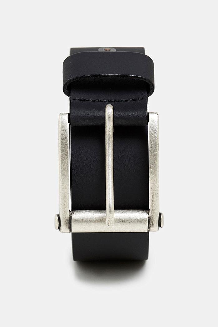 Gürtel aus Leder, BLACK, detail image number 0