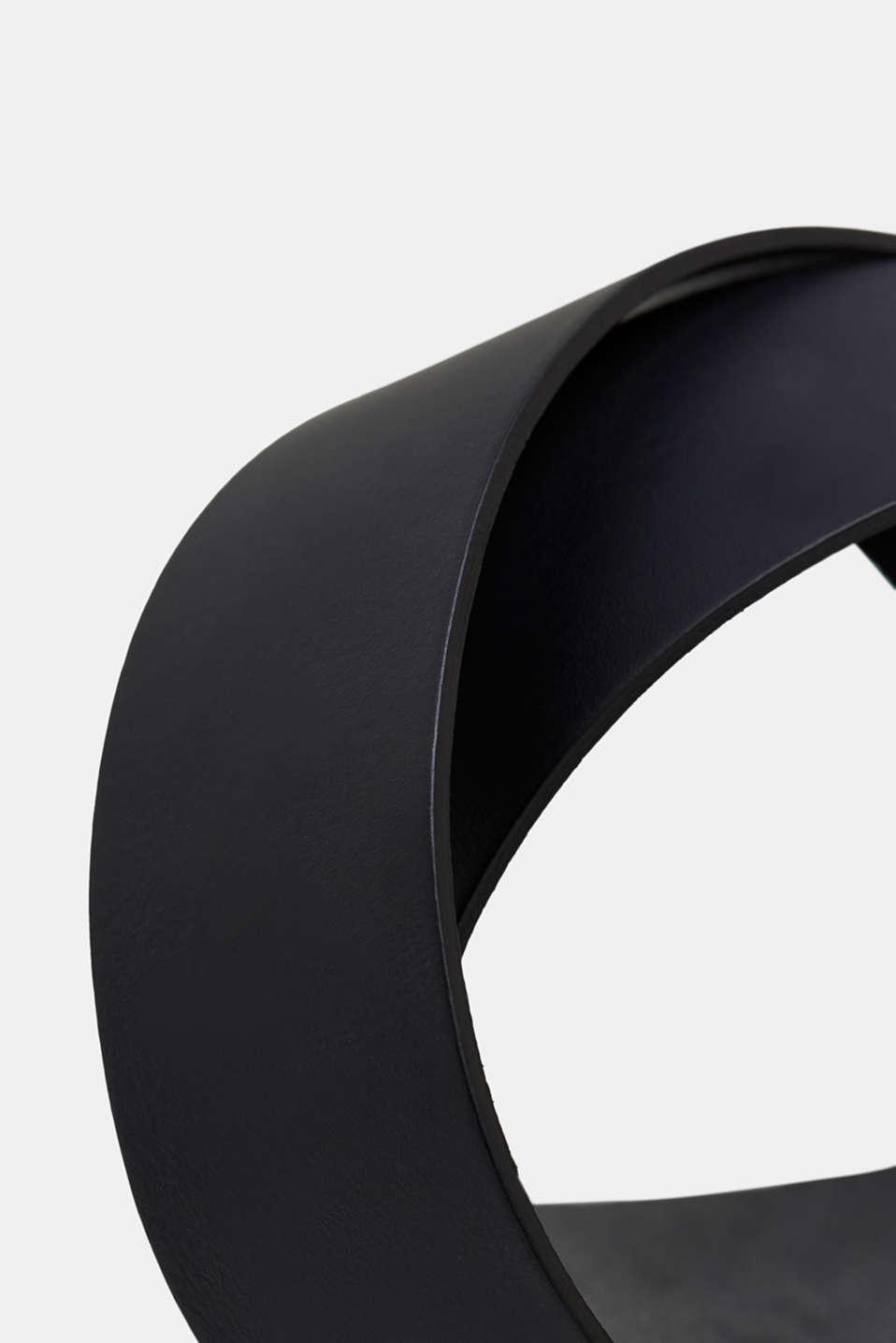 Belts leather, BLACK, detail image number 1